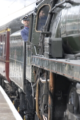 The Oliver Cromwell steam locomotive.