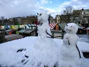 Snowmen on Norwich Market!