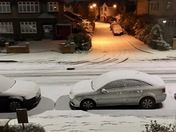 Snow in Aldborough Road North at 5.55am 28th February