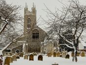 Beautiful Bungay in the snow today.