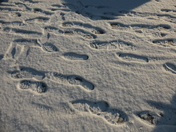 Foot marks in Snow