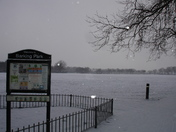 Barking Park gets the snow from The Beast from the East