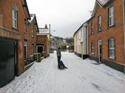 Uphill snow