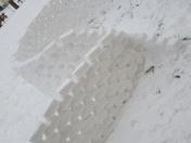 Snow den