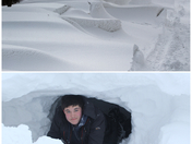Making caves out of snow drifts