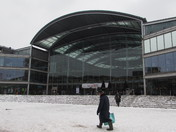 The Forum Norwich in Snow