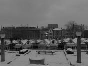 Norwich Market in the Snow last week