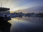 Bright mornings ahead. Ipswich Marina