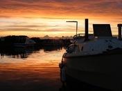 Sunset at Ludham Bridge.