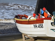 Sheringham fishing boat ready for launch