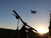 Early morning with my Drone , DSLR and my trusty mountain bike