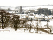 North Molton on. Snowy March Morning