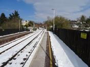 Honiton Railway Station after the snow