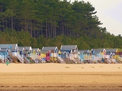 Colourful Beach Huts At Wells