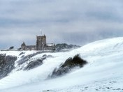 Uphill st Nicholas church snow blizzard