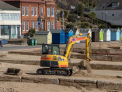 Repairing the beach in Felixstowe