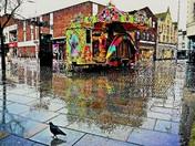 Wet streets.