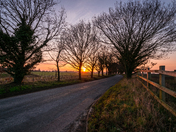 Brundall low road sunrise
