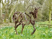 Horse sculpture at Banham Zoo