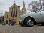 Rolls Royce cars at Norwich Cathedral