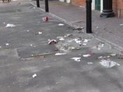 Litter on Christmas Eve morning - Felixstowe Town - near Solar