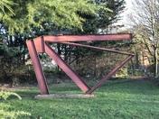 Sculpture of railway track