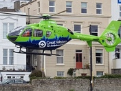Air Ambulance on an emergency call