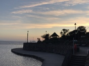 Sunset on the seafront
