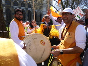 Celebrations to welcome The Prime Minister of India.