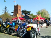 St George's Day bike meet at Kesgrave Bell Inn