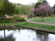 Scene in Valentine park Ilford