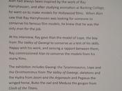 Dinosaurs, Harryhausen and Me exhibition