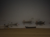 a foggy morning at instow