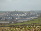 View of Barnstaple from the back of Bickington