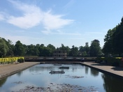 Pond over Eaton park