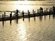 Cycling the lake
