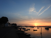Sunset and high tide at Wells next the sea