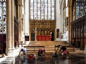 Clean up at St Peter Mancroft following building work