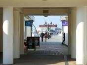Through the pier entrance