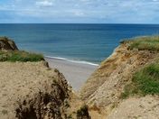 Looking Onto The Beach From The Cliffs At Weybourne
