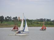 Sailing Past Ramsholt Church