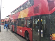 Bus gridlock in Barking town centre 23rd May 2018