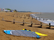 Great windsurfing session at Suffolk's premier windsurfing spot, The Dip, Felixs