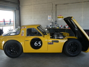 Yellow race cars