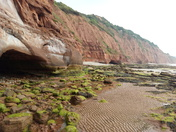 Low tide on west beach at Sidmouth (Lade Foot)