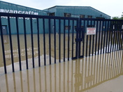 industrial estate flooded at besthorpe on saturday