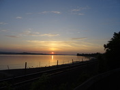 Sunset over the Exe Estuary between Exmouth and Lympstone