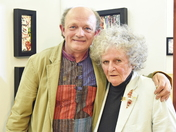 ART EXHIBITION SUPPORTING MARIE CURIE OPENED BY MAGGI HAMBLING SUFFOLK ARTIST