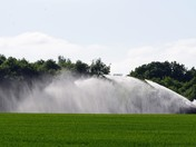 Irrigating crops in dry weather