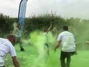 Rainbow colour run for choldrens hospice